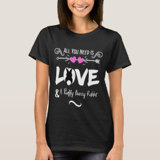 Funny Slogan Love Bunny Rabbits Theme Graphic T-Shirt