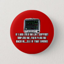 Funny slogan pinback button