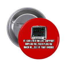Funny Slogan Pinback Button at Zazzle