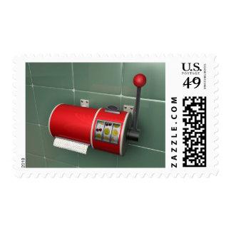 Funny Slot Machine Postage Stamp