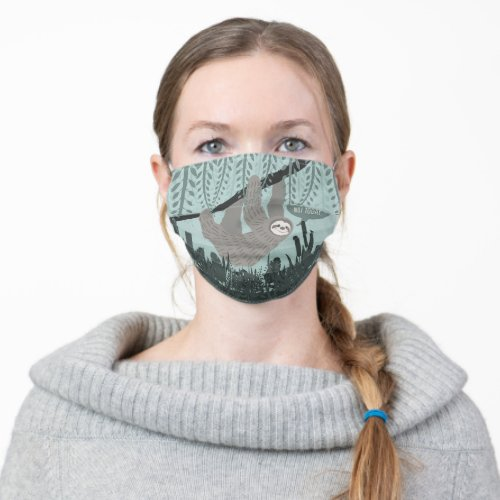 Funny Sloth Adult Cloth Face Mask