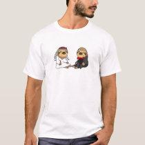 Funny Sloth Bride and Groom Wedding T-Shirt