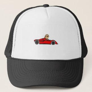 Funny Sloth Driving Race Car Cartoon Trucker Hat