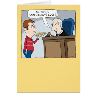 Funny Small Claims Court Judge Birthday Card