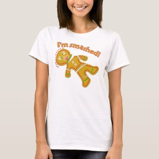 Funny Smashed Gingerbread Christmas T-Shirt