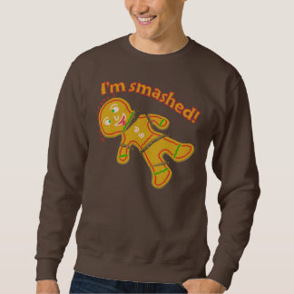 Funny Smashed Gingerbread Ugly Christmas Sweater