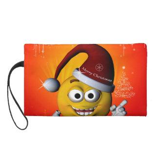 Funny smiley wristlet purse