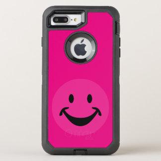 Funny Smiley face black+ your backg. & ideas OtterBox Defender iPhone 8 Plus/7 Plus Case