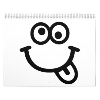 Funny smiley face calendar