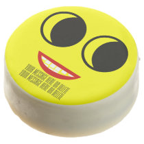 Funny Smiley Face.  Customize It! Chocolate Covered Oreo