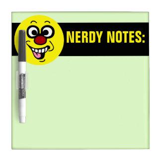 Funny Smiley Face Grumpey Dry-Erase Board