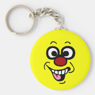 Funny Smiley Face Grumpey Keychain