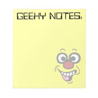 Funny Smiley Face Grumpey Note Pad