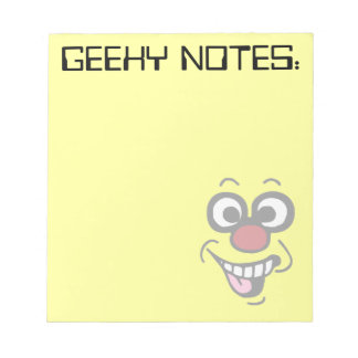 Funny Smiley Face Grumpey Notepad