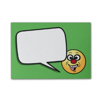 Funny Smiley Face Grumpey Post-It Note