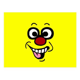 Funny Smiley Face Grumpey Postcard