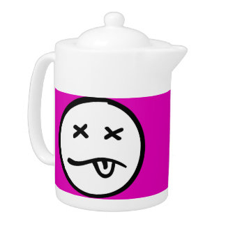 Funny Smiley Face on Pink Background