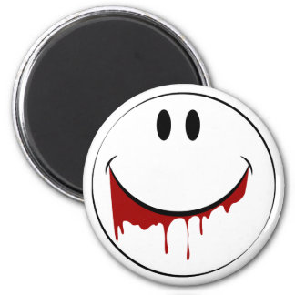 FUNNY SMILEY FACE REFRIGERATOR MAGNET