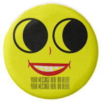 Funny Smiley Face with Facial Accents Chocolate Covered Oreo