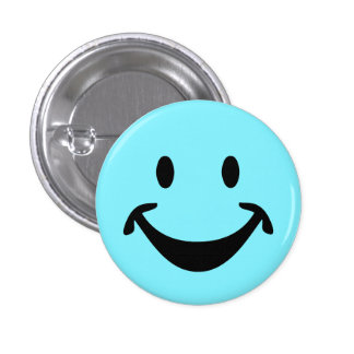 Funny Smiley face + your backg. & ideas 1 Inch Round Button
