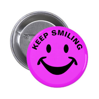 Funny Smiley face + your backg. & ideas 2 Inch Round Button