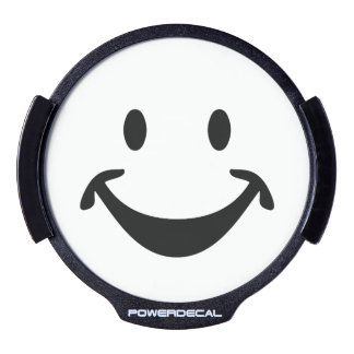 Funny Smiley face + your backg. & ideas LED Window Decal