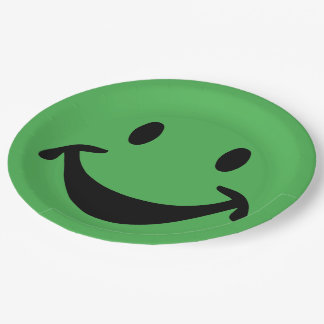 Funny Smiley face + your backg. & ideas Paper Plate
