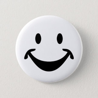 Funny Smiley face + your backg. & ideas Pinback Button