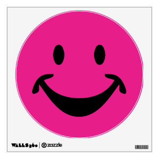 Funny Smiley face + your backg. & ideas Wall Decal