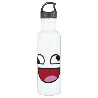Funny Smiley Stainless Steel Water Bottle