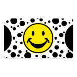 Funny Smiley yellow & Dots + your backg. & ideas Business Card
