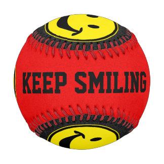 Funny Smiley yellow + your backg. & ideas Baseball