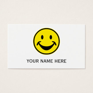 Funny Smiley yellow + your backg. & ideas Business Card