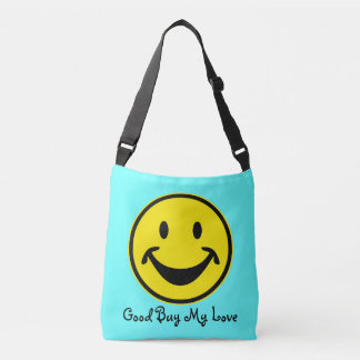 Funny Smiley yellow + your backg. & ideas Crossbody Bag