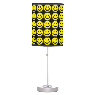 Funny Smiley yellow + your backg. & ideas Desk Lamp