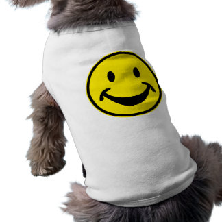 Funny Smiley yellow + your backg. & ideas Doggie Tee Shirt