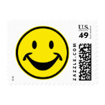 Funny Smiley yellow + your backg. & ideas Stamp