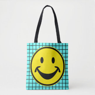 Funny Smiley yellow + your backg. & ideas Tote Bag