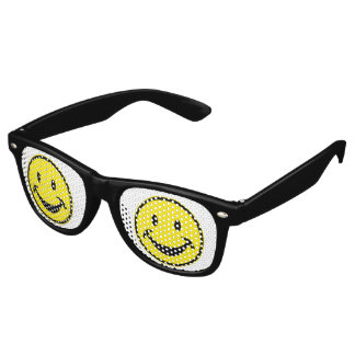 Funny Smiley yellow + your backg. & ideas Wayfarer Sunglasses