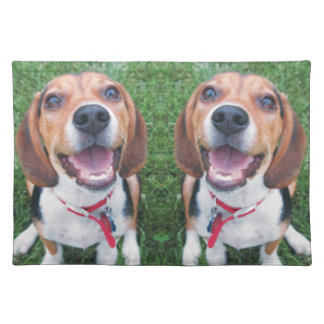 Funny Smiling Beagles Placemat