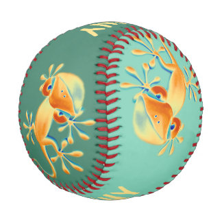 Funny Smiling Gecko + your background & ideas Baseball