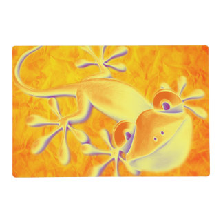 Funny Smiling Gecko + your background & ideas Placemat