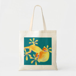 Funny Smiling Gecko + your background & ideas Tote Bag