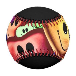 Funny smiling hearts A Baseball
