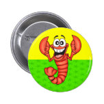 Funny Smiling Lobster 2 Inch Round Button
