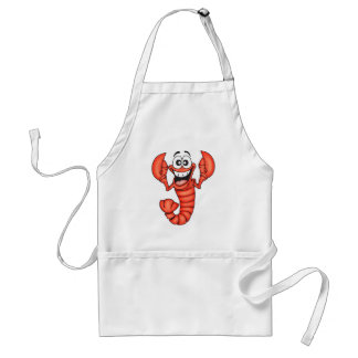 Funny Smiling Lobster Adult Apron