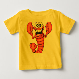 Funny Smiling Lobster Baby T-Shirt
