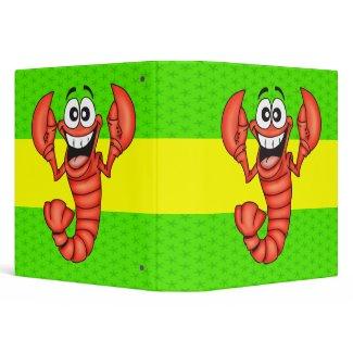 Funny Smiling Lobster binder