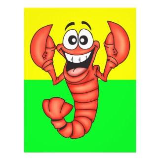 Funny Smiling Lobster Flyers