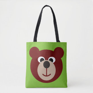 Funny Smiling Teddy Bear + your background & ideas Tote Bag